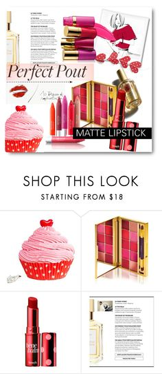 """matte lipstick"" by bonadea007 ❤ liked on Polyvore featuring beauty, Garance Doré, D&G, By Terry, Benefit and mattelipstick"