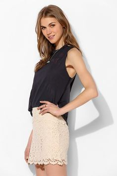 Pins And Needles Crochet Mini Skirt - Urban Outfitters