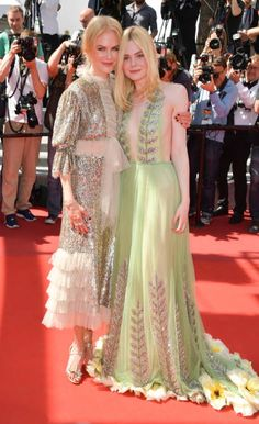 Actresses Nicole Kidmand and Elle Fanning attend the 'How To Talk To Girls At Parties' screening during the 70th annual Cannes Film Festival at on...