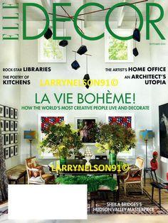 ELLE DECOR MAGAZINE SEPTEMBER 2020 SHEILA BRIDGES ROCK STAR ARCHITECT UTOPIA ED Rock Star, Elle Decor Magazine, Cover Pics, Creative People, Magazines, Ebay, Journals