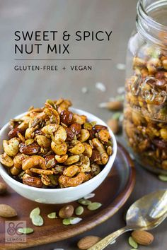 Make a batch of sweet and spicy nuts that will last at least a week or two.