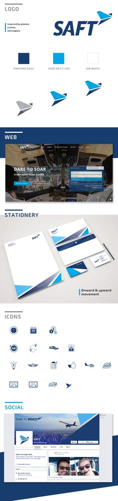 SAFT AVIATION Inspiration: branding, design, logo, stationery, web