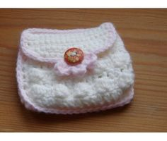 (PDF PATTERN) Small Coin Purse with Button -- United Kingdom