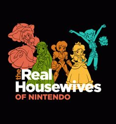 Real Housewives of #Nintendo T-shirt by BustedTees ($20)