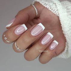 Classy Nails, Stylish Nails, Cute Nails, Pretty Nails, Bride Nails, Wedding Nails, Square Nail Designs, Nail Art Designs, Sqaure Nails