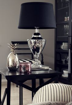 Still obsessed with mercury glass lamps but cant find a size and blnkande favoriter black end tablesblack table lampsside aloadofball Gallery