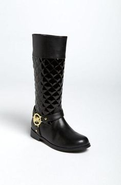 It's never too early to walk in style. Girl's Michael Kors boots.