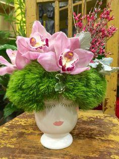 Sweet Lips Pink Cymbidium, Pink Ginestra, Green   Dianthus www.cityscents.com