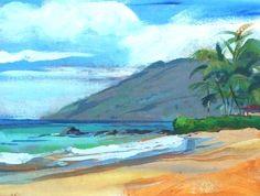 Palauea Beach Painting  - Palauea Beach Fine Art Print