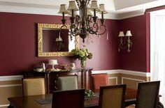dining room paint ideas | Benjamin Moore 2083-10 Raisin Torte, HC-46 Jackson Tan