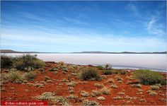 Lake Gairdner in South Australia filled with water, a rare occasion