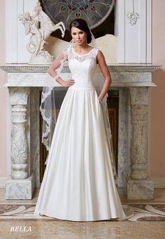 Suknie ślubne Fasson, Wedding dresses by Dorota Wróbel, Suknia Bella z ramiączkami