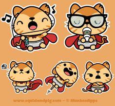 https://www.behance.net/gallery/17707457/Supergato-Stickers-for-MunkeeApps