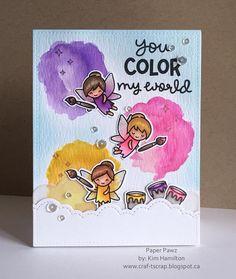 Fairy fun! @lawnfawn #fairyfriends #chirpy,chirp,chirp #colormyworld. Happy Saturday