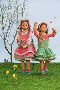 Annette Himstedt Dolls - 2008 Seasons Kinder ~ Anne Moni & Bellis represent Spring