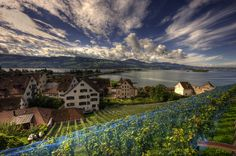 Rapperswil, Switzerland on the Zürichsee, by Or Hiltch