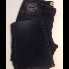 Jeans Black stone washed jeans low rise, gently used. Measurements laying flat waist 19 inches inseam 32 SO Jeans