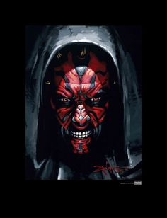 Darth Maul by Rodel Gonzalez - Thomas Kinkade Galleries of New York, New Jersey & Connecticut Darth Vader Suit, Darth Maul, Star Wars Darth, Star Wars Wall Art, Star Art, Star Wars Pictures, Star Wars Images, Star Wars The Old, Graphic Wallpaper