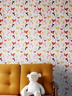 Origami wallpaper  Dottir & Sonur