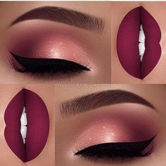 Beste Make-up dunkelrosa Lippen machen Ideen - Beste Make-up dunkelrosa Lippen machen Ideen Informationen zu Best makeup dark pink lips mak - Cute Makeup, Gorgeous Makeup, Pretty Makeup, Clown Makeup, 80s Makeup, Sleek Makeup, Halloween Makeup, Witch Makeup, Awesome Makeup