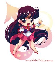 .:Chibi Super Sailor Mars:. by Mako-Fufu.deviantart.com on @deviantART