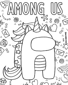 Free Kids Coloring Pages, Unicorn Coloring Pages, Free Printable Coloring Pages, Free Coloring, Coloring Pages For Kids, Coloring Sheets, Coloring Books, Simple Coloring Pages, Tumblr Coloring Pages