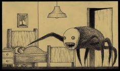This guy draws monsters on post it notes