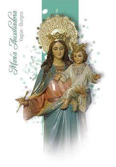 IMAGENES DE MARIA AUXILIADORA AUSILIATRICE AUXILIATRICE HELP OF CHRISTIANS My Maria, Madonna And Child, Mothers Love, Virgin Mary, Marie, Princess Zelda, Celestial, Saints, Frases