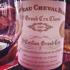 cheval blanc wine 2000 red st emilion grand cru   You can never go wrong with red wine from Saint-Emilion...