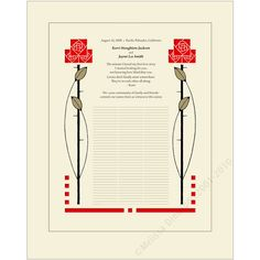 if this was a bit more deco, and on white people, I could see it working as a Quaker wedding certificate. Personalized vows and illustration, of course.