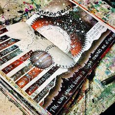 Mixed Media Art Journal Pages by Jenndalyn