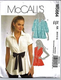 d10cf5fa93 Items similar to Misses  Shirts   Original McCall s Uncut Sewing Pattern  M5664 on Etsy