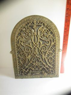 Antique Arched Cast Iron Wall Heating Register Grate Original Paint Works  Great | EBay