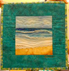 Karen Eckmeier was our guest quilter/teacher this week. She brought several of her quilts to show us her raw edge machine applique techniqu...