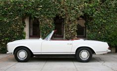 Vintage white Mercedes convertible