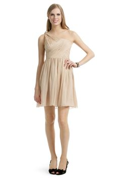 For anyone, really (well, anyone who is willing to wear a one-shoulder or strapless bra!). Tibi, Camel Chiffon Dress ($75 RtR)