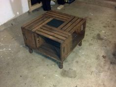 rustic homemade craft coffee table