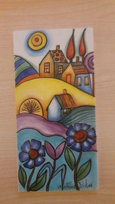 Cuadro Ceramic Painting, Fabric Painting, Ceramic Art, Art Populaire, Naive Art, Whimsical Art, Pottery Art, Diy Art, Art For Kids