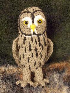 Great Grey Crochet: Twilight the Great Grey Owl pattern