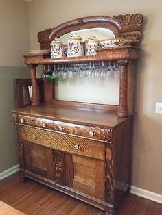Antique-Tiger-Oak-Buffet