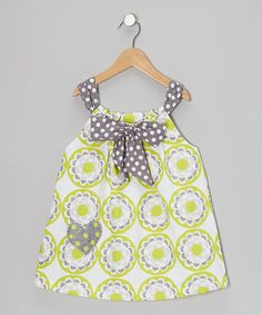 Take a look at this White & Gray Bow Swing Top - Girls by Baxter & Beatrice on #zulily today!