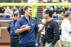 Jim Harbaugh: Patriots' QB 'Tom Brady is the greatest football player ever' = Like Patriots' QB Tom Brady, Jim Harbaugh played quarterback at Michigan – where he's now the head coach. He also played in the NFL for 14 years and went…..