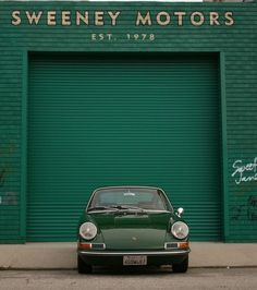 Green is a classic color for sports cars. Sweeney Motors & Porsche