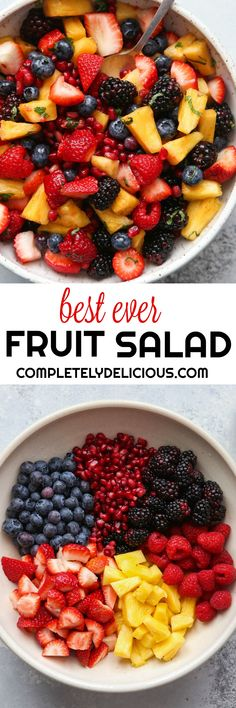 This simple but spectacular fruit salad filled with fresh berries, pineapple and pomegranate is my new favorite!