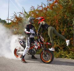 Dirtbikes Couple Offroad And Motocross
