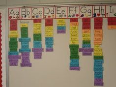 Word Wall Love How This Is Organized For Kids To Look Up Words Wish I