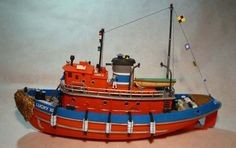 1/108 Harbour Tug Boat (Revell) Cool Diy Projects, Project Ideas, Tugboats, Model Ships, Model Building, Water Crafts, Sailing Ships, Wooden Toys, Dreams