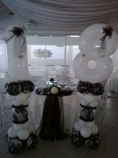 Balloon Ideas, Balloon Columns, Banquet, Cage, Balloons, Chandelier, Ceiling Lights, School, Party