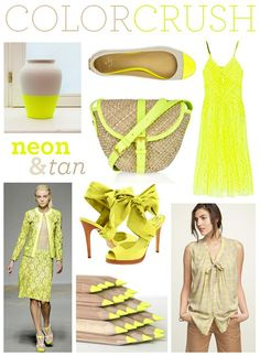 I think I could get behind the neon craze when paired with natural neutrals