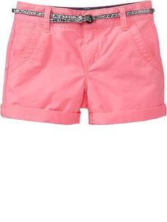 Girls Belted Khaki Shorts | Old Navy - Do these come in junior's sizes?